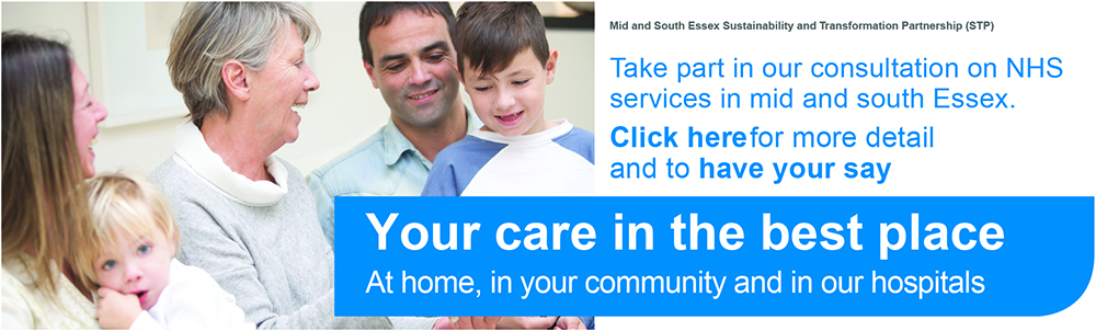 STP consultation web banner NHS THURROCK