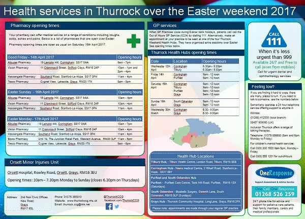 Easter opening times small