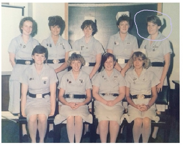 Jane FT as a student midwife 1986